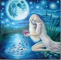 Craiasa din povesti, pictura in ulei pe panza inspirata din poezia lui Mihai Eminescu facuta in ianuarie 2013