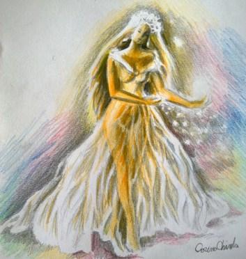Princess drawing - Printesa desenata