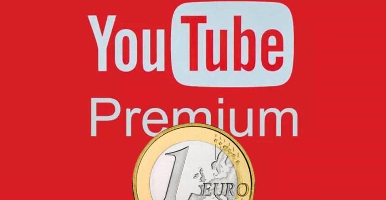YouTube Premium por 1€