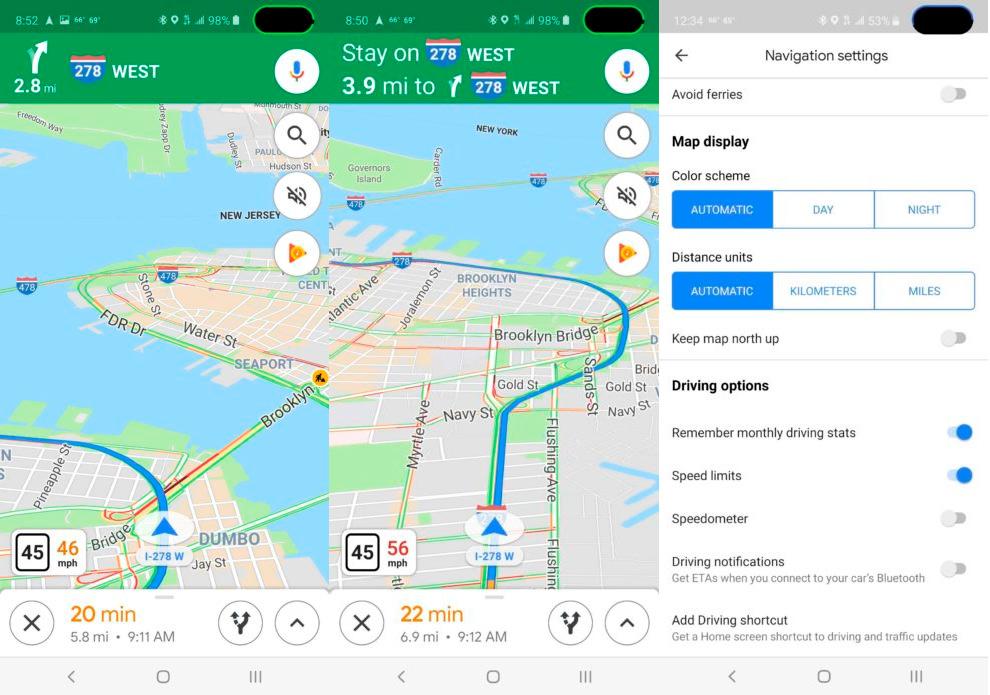Google Maps despliega en otros países su función que indica los limites de velocidad mientras conduces