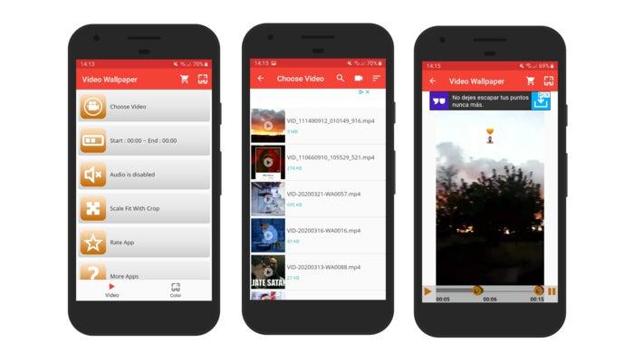 Video Live Wallpaper una app interesante que te permitirá establecer tus vídeos como fondos de pantalla