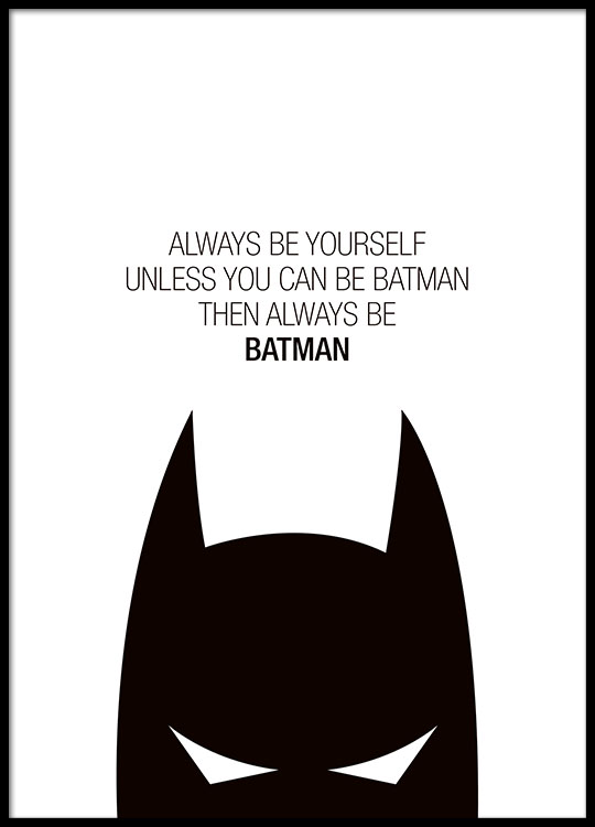 Always be yourself poster