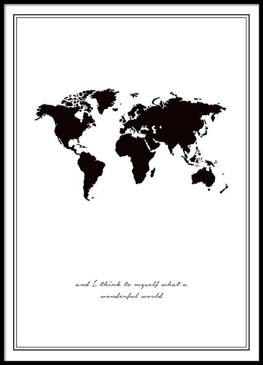 Desenio Wonderful World Poster