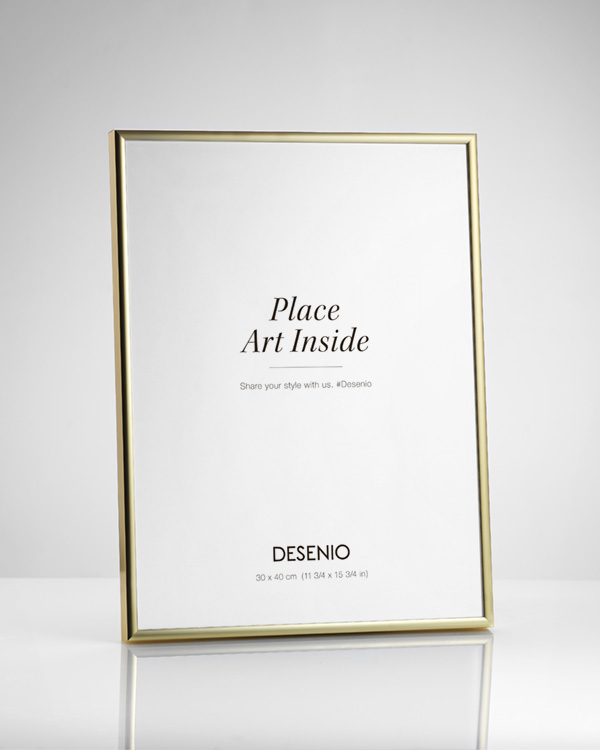 picture frame gold 30x40