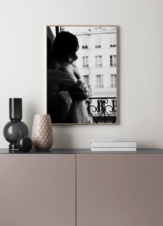 paris window view poster