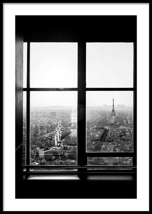 view of eiffel tower poster