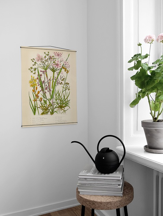 vintage flowers two poster