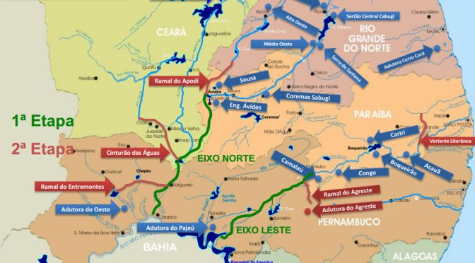 Transposição do Rio São Francisco: água para consumo doméstico e irrigação