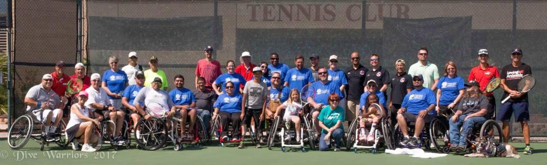 Dive Warriors Group Photo Tennis