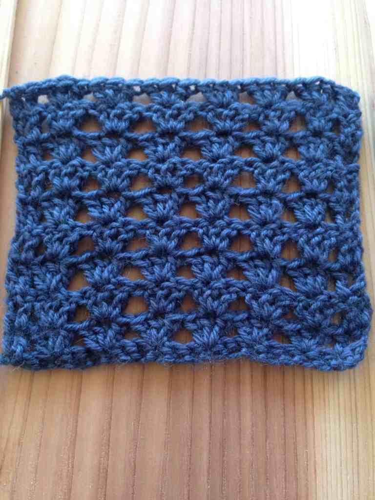 lace crochet shell stitch