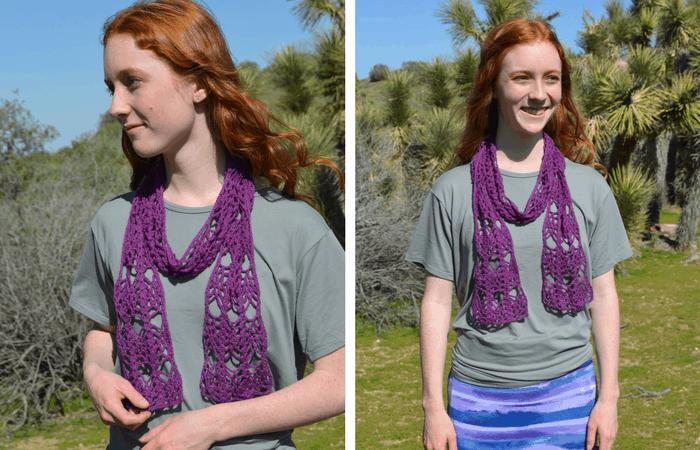 Lace Weight Yarn crochet scarf pattern