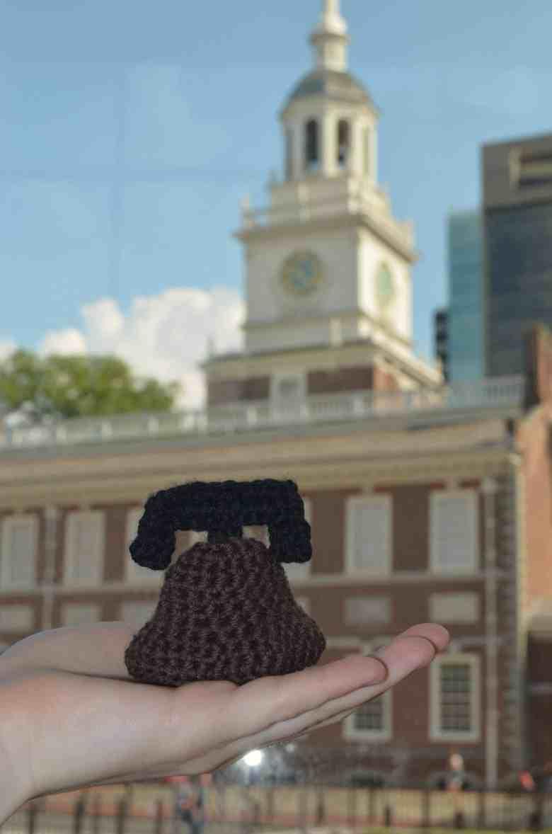 crochet liberty bell