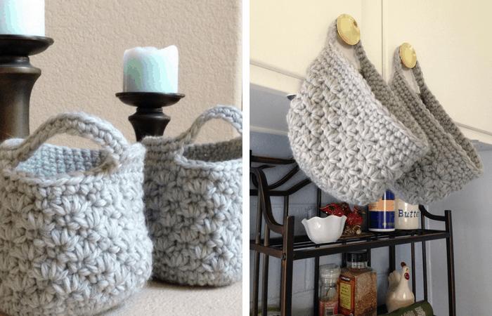 crochet hanging basket pattern