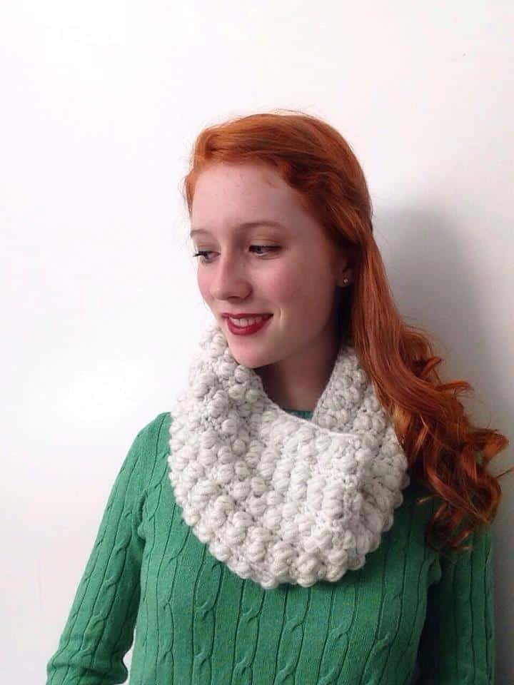 winter wonderland cowl—free crochet pattern