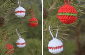 quick christmas ornaments—free crochet pattern