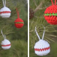 Simple Crochet Christmas Ball Ornaments—FREE Pattern