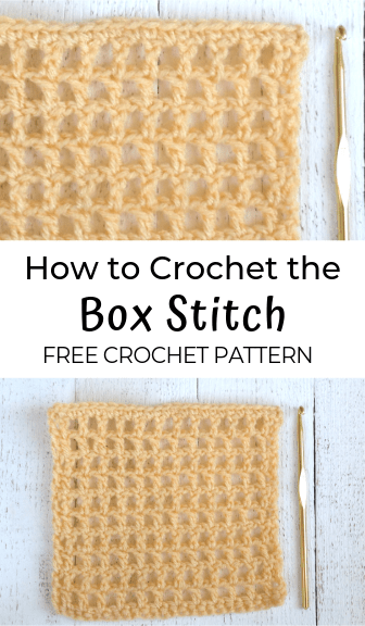 how to crochet the box stitch—free crochet pattern