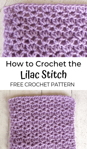 how to crochet the lilac stitch—free crochet pattern