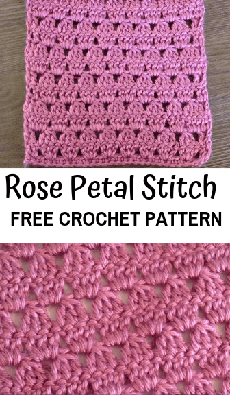 how to crochet the rose petal stitch—free crochet pattern