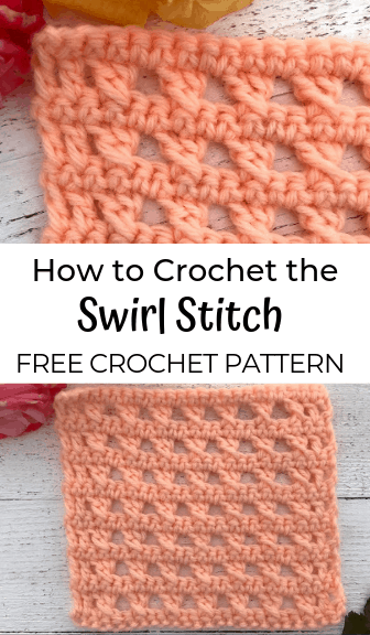 how to crochet the swirl stitch—free crochet pattern