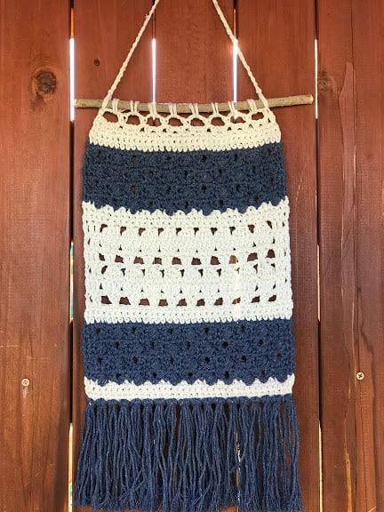 boho crochet wall hanging Christmas gift