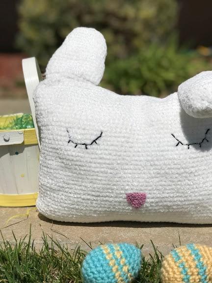 Velveteen Rabbit Pillow—FREE Easter Crochet Pattern