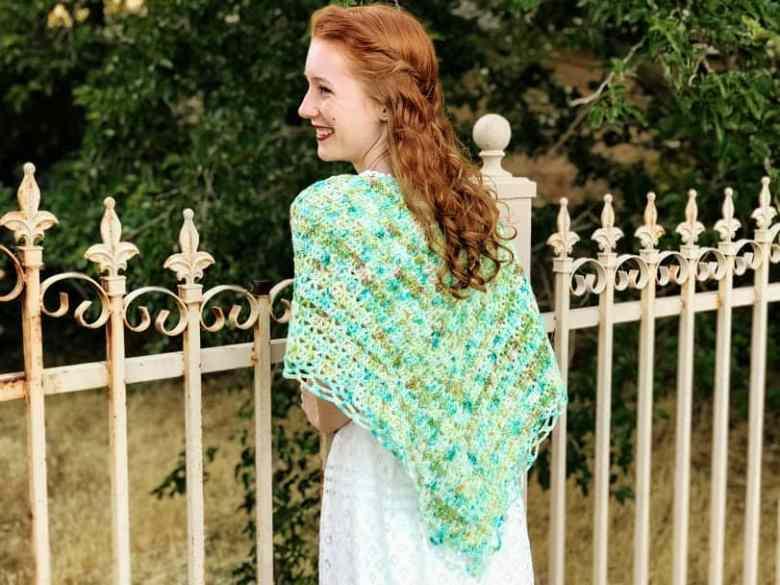 Aspen lacy shawl crochet pattern