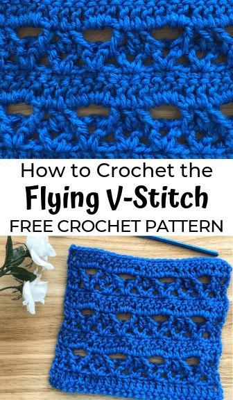 How to crochet the Flying V-Stitch