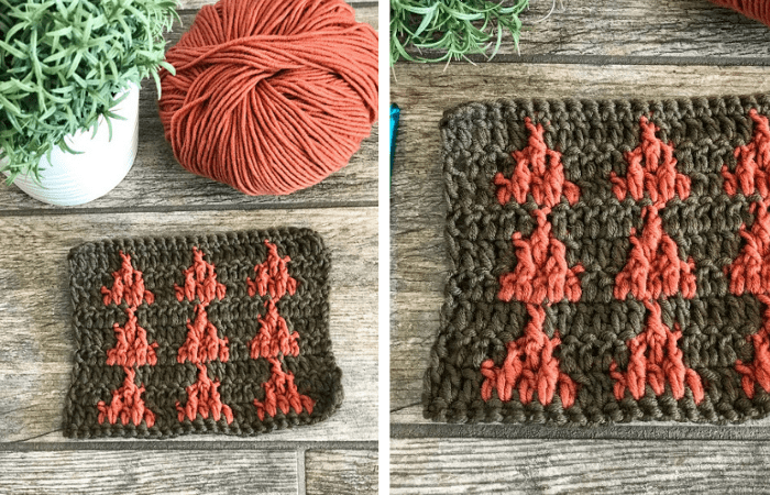 How to Crochet the Triangle Post Stitch