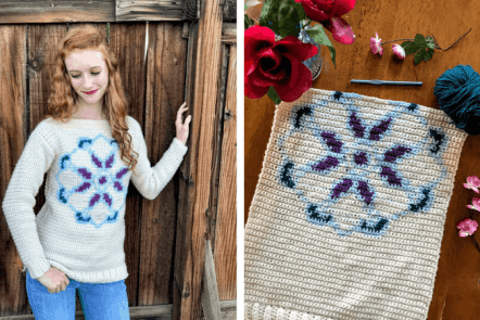 Mandala Pullover Crochet Along Part 2