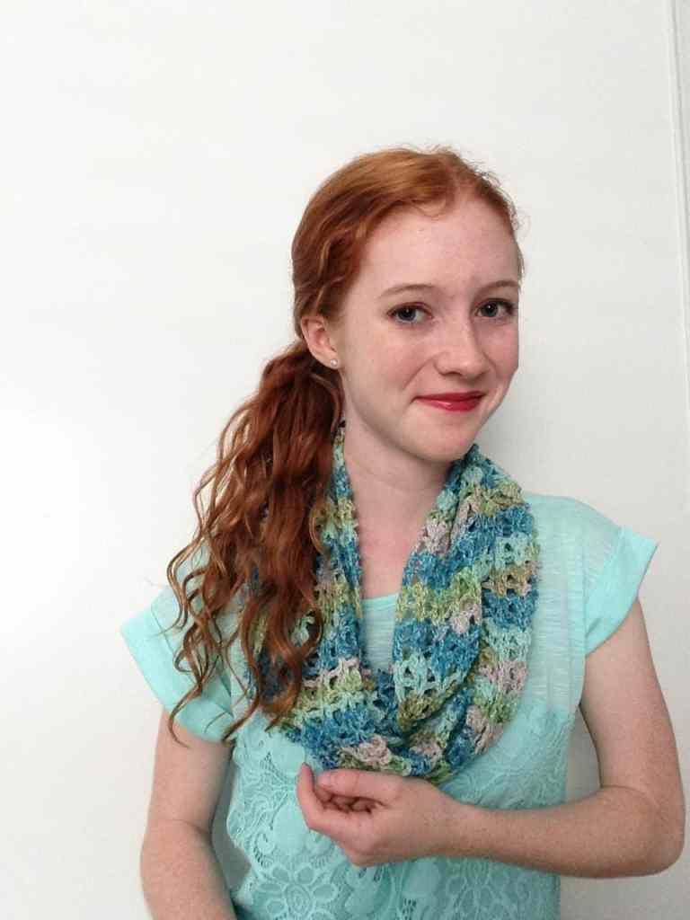 Lace crochet scarf pattern