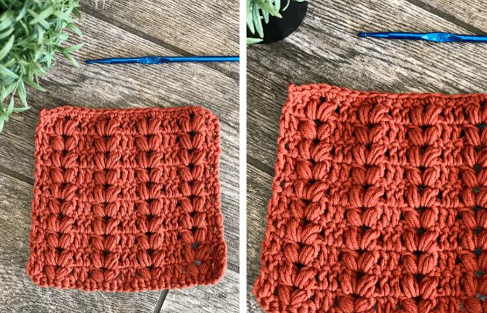 Textured Harvest Puff Stitch Crochet