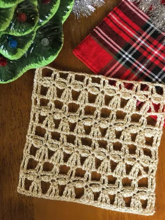 How to Crochet the Angel Stitch—Free Crochet Pattern, beautiful crochet lace stitch pattern!