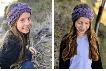 Allie Ear Warmer—Free Crochet Kid's Pattern