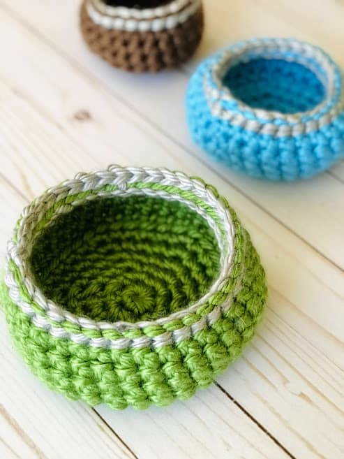 Easy Crochet Basket Pattern in 3 Sizes