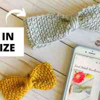 Cute Crochet Bow Headband—Free Pattern with Video Tutorial & Size Chart