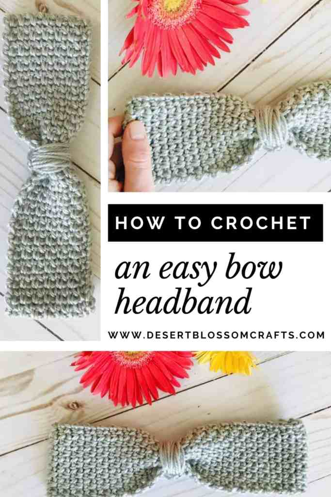 Cute Crochet Bow Headband—Free Pattern with Video Tutorial & Size Chart