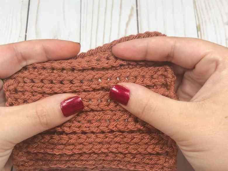 Camel stitch crochet square