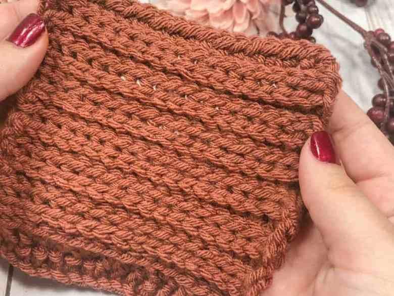 Knit-look Crochet Camel Stitch