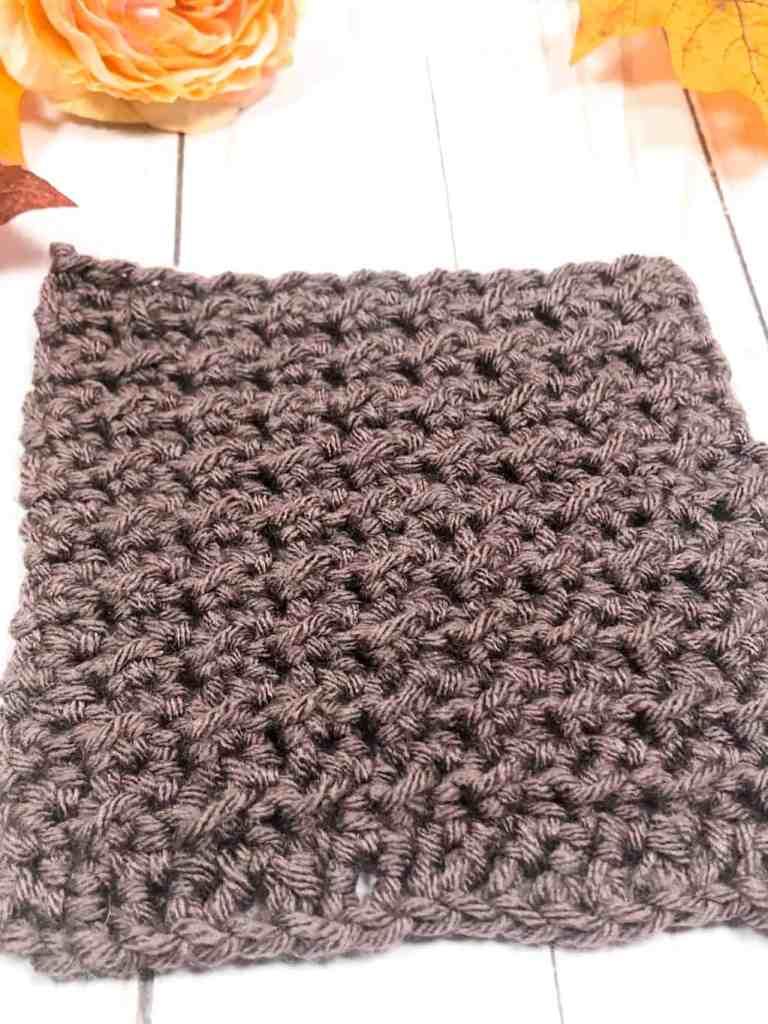 Crunch stitch crochet swatch
