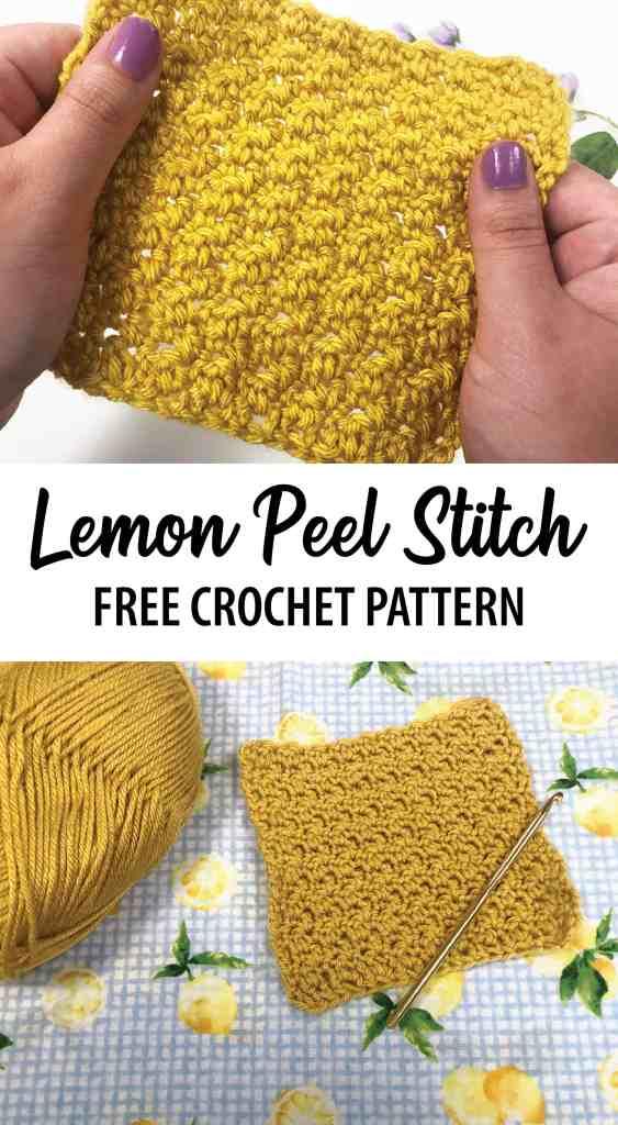 How to Crochet the Lemon Peel Stitch - Free Crochet Pattern