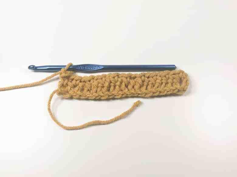 Moss stitch row 1 finished
