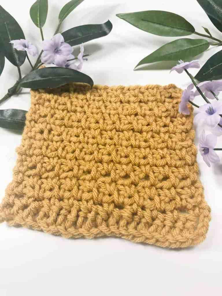 Moss Stitch Crochet Square