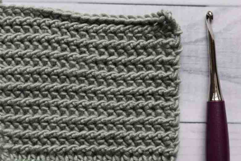 crochet half double slip stitch
