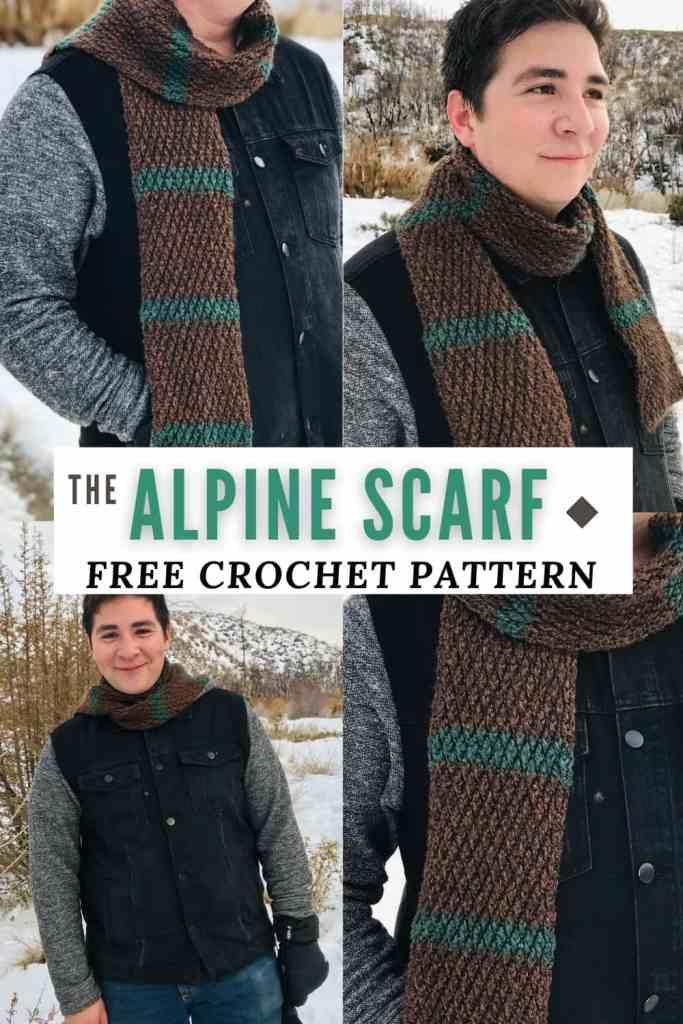 Alpine Stitch Scarf Crochet Pattern for Men!