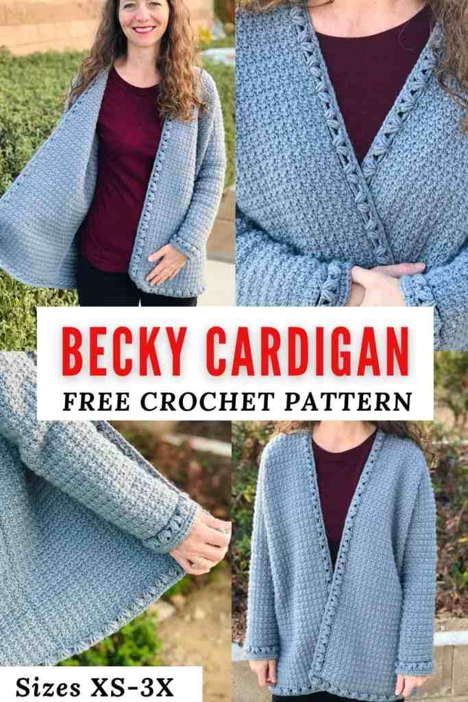 Becky Cardigan - FREE Oversized-Crochet-Cardigan-Pattern