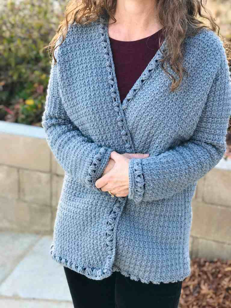 Oversized Crochet Cardigan