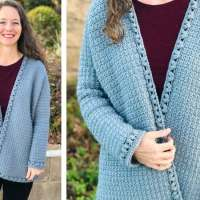 FREE Oversized Crochet Cardigan Pattern in Sizes XS-3XL