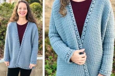 oversized crochet cardigan pattern