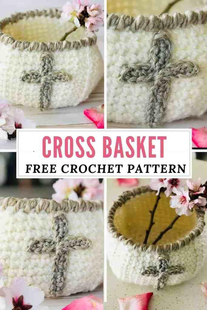 Crochet Cross Basket - FREE Pattern